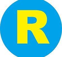 Running Man R logo by drdv02