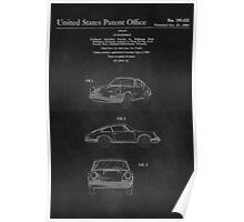 PORSCHE 911 CARRERA 1964 PATENT ART PRINT  Poster