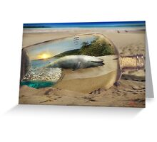 Beached Whale Greeting Card