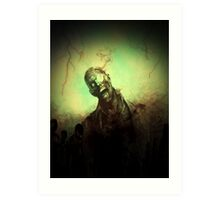 Through The Eye Zombie Art Print