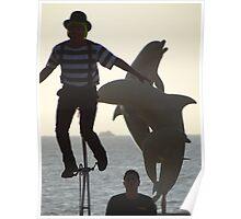 The Clown, The Tourist And The Dolphins - El Payaso, El Turista Y Los Delfines Poster