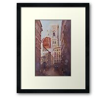 And Suddenly, The Duomo Framed Print