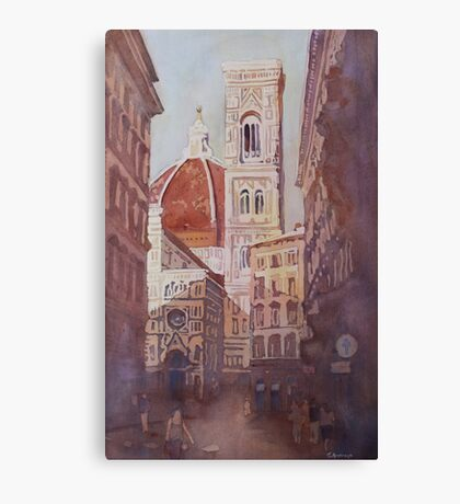 And Suddenly, The Duomo Canvas Print