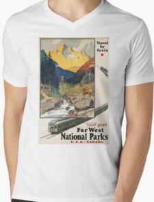 Vintage poster - National parks Mens V-Neck T-Shirt