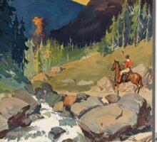 Vintage poster - National parks Sticker