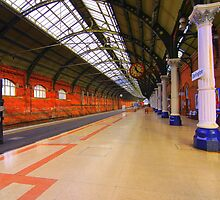 Platform 4, Darlington Bank Top Station, England by Ian Alex Blease