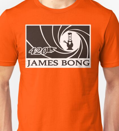 Defending Awesome - AGENT 420 JAMES BONG Unisex T-Shirt