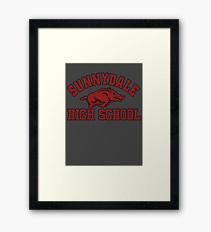 Sunnydale High Razorbacks Framed Print