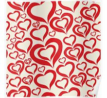 Love pattern Poster