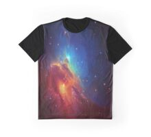 Star Nebula Space - Deep Blue Graphic T-Shirt