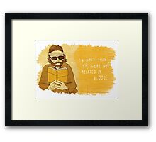 Richie Tenenbaum design 2, by Siri Vinter Framed Print