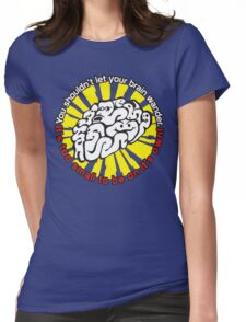 Defending Awesome - Wandering Brain  Womens Fitted T-Shirt