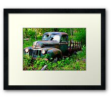1942 Ford Pickup Truck - Abandoned in Cass County, Texas Framed Print