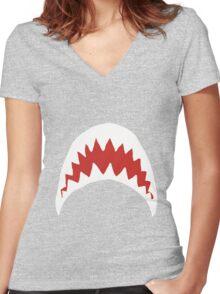 Sharkie Women's Fitted V-Neck T-Shirt