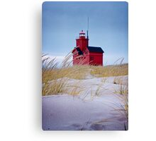 Lighthouse Big Red in Holland Michigan Canvas Print