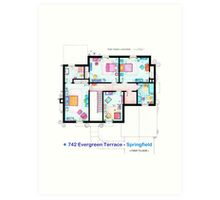 House of Simpson family - First Floor Art Print