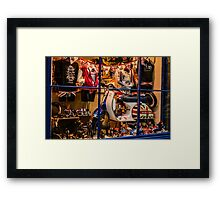 Union jack shop screen Framed Print