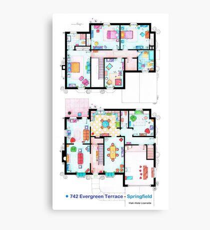 House of Simpson family - Both floors Canvas Print