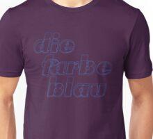 Die farbe blau Unisex T-Shirt