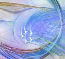 Blue Flame-Available As Art Prints-Mugs,Cases,Duvets,T Shirts,Stickers,etc Sticker