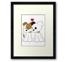Puppy Couple Framed Print