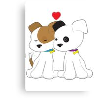 Puppy Couple Canvas Print