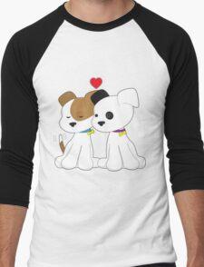 Puppy Couple Men's Baseball ¾ T-Shirt