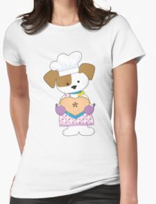Puppy Love Pie Womens Fitted T-Shirt