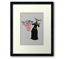 Arrow To The Ni!! Framed Print