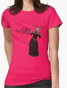Arrow To The Ni!! Womens Fitted T-Shirt