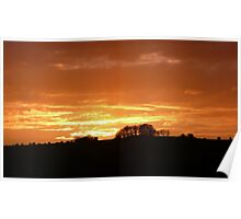 Sunset over the Ouse Valley Poster