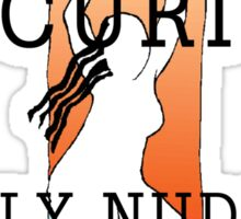 """Women's """"Avoid Airport Security - Fly Nude"""" Sticker"""