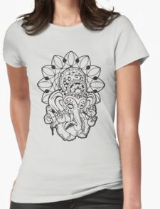 Ganesh (black outline style) Womens Fitted T-Shirt