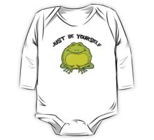 """Funny Frog """"Just Be Yourself"""" One Piece - Long Sleeve"""