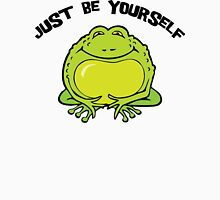 "Funny Frog ""Just Be Yourself"" Womens Fitted T-Shirt"