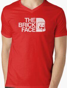 The Brick Face Mens V-Neck T-Shirt