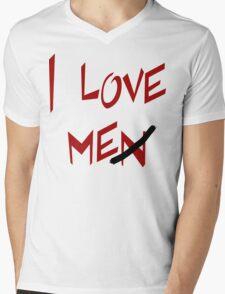 "Women's ""I Love Me"" Mens V-Neck T-Shirt"