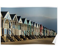 Beach Huts at Southwold Poster