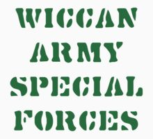 Wiccan Army Special Forces by T-ShirtsGifts