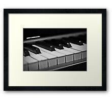 Piano Keys [Black & White] Framed Print