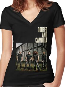 Coheed and Cambria Gunahad4 Women's Fitted V-Neck T-Shirt