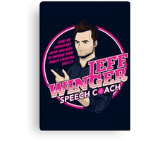 Jeff Winger: Speech Coach Canvas Print