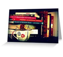 Books And Tea  Greeting Card
