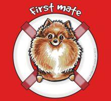 Orange Pomeranian :: First Mate Kids Tee