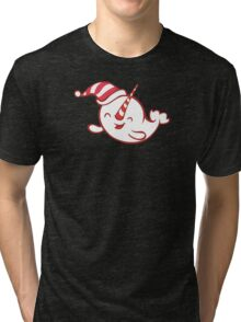 Holiday Narwhal 2 Tri-blend T-Shirt
