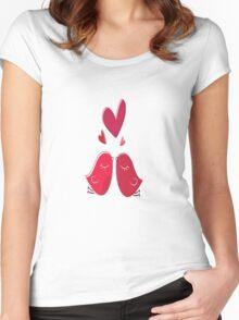 Love Birds Women's Fitted Scoop T-Shirt