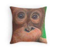 Beautiful Baby Orang-utan Throw Pillow