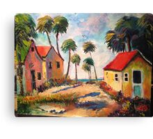 Cottages on the Gulf of Mexico Canvas Print