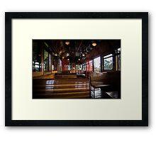 Jimmy possum Tram - interior Framed Print