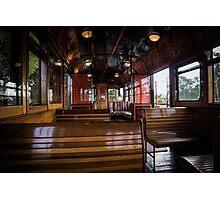 Jimmy possum Tram - interior Photographic Print